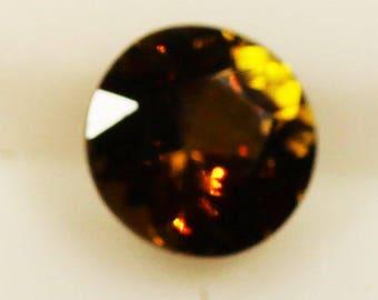 Golden Brown Epidote 0.70cts Round Cut 6mm R1254 Gemstone Faceted Gem Jewelry Making Semi Precious Gemstone