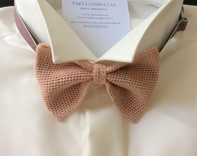 Knitting fly, dusky pink, cotton/silk