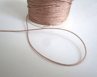 5 meters of wire 0.8 MM BEIGE NYLON