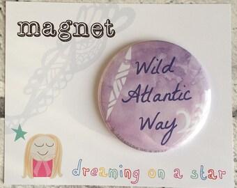 Surf gift, Sea Magnet, Irish Beach, Beach Magnet, Beach House Decor, Surfing gift, Wild Atlantic Way, Round Magnet, 58mm magnet, Ireland
