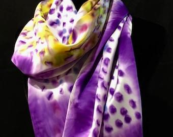 Amethyst Silk Scarf (ultra violet)