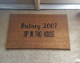 Britney Spears Doormat   Welcome Mat   2007   Funny Doormat   Wine Doormat   Funny Gift   Home Decor   Welcome   Food Decor   90s Decor