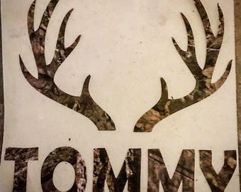 Personalized Camouflage Decal for your YETI tumbler, cooler, vehicle, laptop, etc. camo hunting decal for stainless steel rambler.
