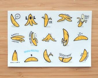 Banana Peelings Sticker Sheet