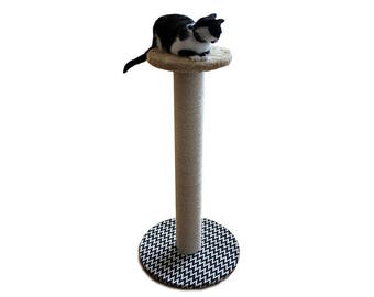 Cat scratching post, sisal scratcher wooden post, disk round , pet furniture, cat scratching tree Zizzy, wooden sisal, cat scratch, cat tree