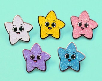 GLITTER STAR PIN