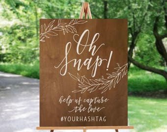 Wedding Hashtag Wood Sign | wedding Instagram Sign |  Wedding Rustic Sign | Wood Sign | Home Decor | Calligraphy