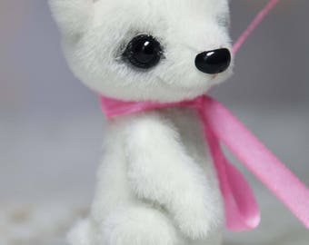 Small plush bear for dolls ooak artist teddy miniature bear