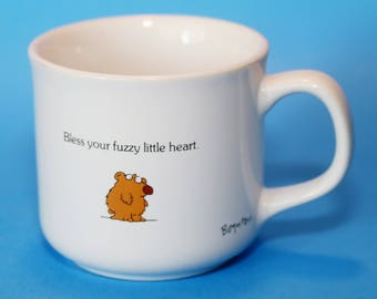 Sandra Boynton Small Size Cup, Mug, Bless Your Fuzzy Little Heart, Bear, Vintage
