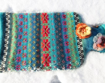 Colorful hot water bottle spring kiss Agua