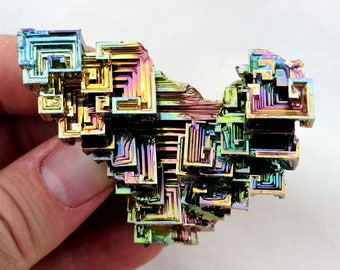 Rainbow Bismuth Crystal 99g Lab Grown Jewelry Display Specimen Educational Metaphysical Metal Healing Stone