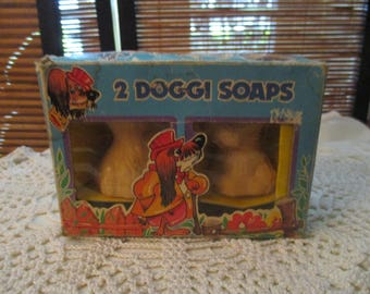 Vintage Soap Two Doggi / Doggy  Soaps (1960s)