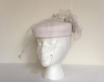 1970s Veiled Hat Vintage