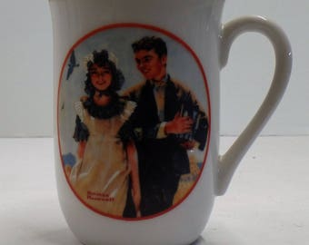 Vintage Norman Rockwell Collectible Coffee Cup