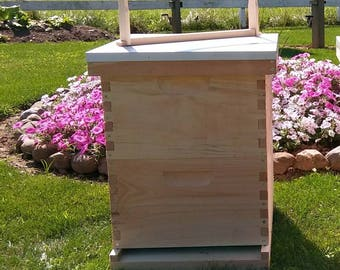 2 deep Bee hive w/ frames ASSEMBLED