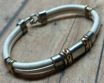 Stainless Steel and Brass Bracelet