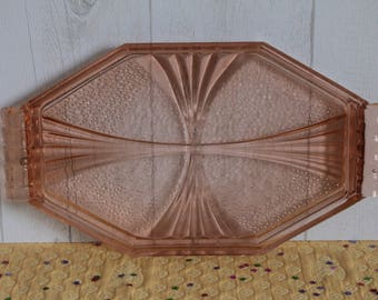 Pink top Orange glass full Art Deco, 30's. France.