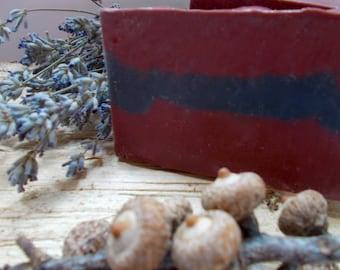 Black Oak Soap for Men - Activated Charcoal - Artisan Cold Process - Oak, Amber, Vanilla, Sandalwood, Lavender - Gift for Him