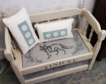 Hand made storage bench