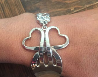 Sterling Silver Fork Bracelet-Royal Danish, 1939