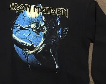 Vintage Iron maiden fear of the dark crewneck 1992 screenstar, iron maiden shirt, irma