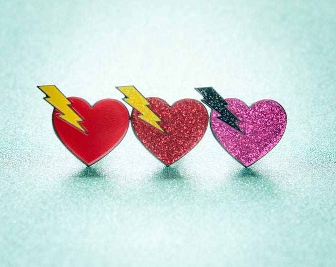 High Voltage Heart Pin