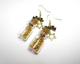 Kawaii - Stardust vials earrings