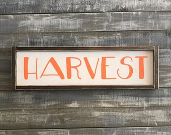 harvest sign, wood sign, signs, signs with sayings, fall signs, fall decor, wall decor, wall hangings, farmhouse decor, rustic decor, sign