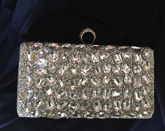 Crystals beaded purse
