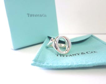 Very unique Tiffany & Co. Sterling Silver Elsa Peretti Sevillana Ring Size 6 Like New!