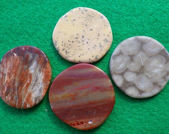 Petrified set of four golf ball markers