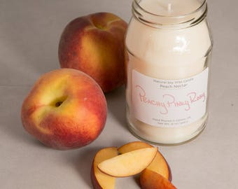 Peach Nectar 12oz Soy Wax Candle