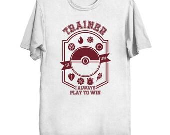 POKEMON TRAINER Est. 1999 Geek T-Shirt Funny Parody ShirtPop Culture Ash Ketchum Pikachu Go Pokeball