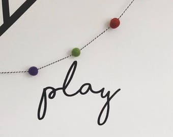 Play ~ Play Room Decor ~ Play Nursery Decor ~ Play Wall Stickers ~ Nursery Wall Stickers ~ Wall Decal Stickers