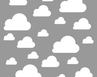 Multi Size Cloud Decals~ Cloud Wall Decals~ Cloud Wall Stickers~ Nursery Decor~ Nursery Wall Stickers ~ Wall Stickers ~ Wall Decals Nursery