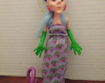 vintage 1980's strawberry shortcake sour grapes with dregs snake pet