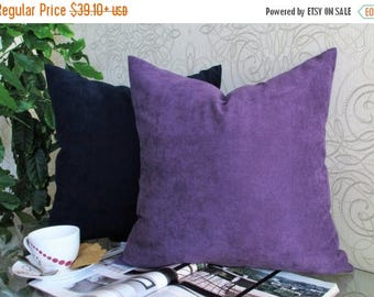 20%off Plum Pillow, Blue Velvet Pillow, Plum Velvet Bed Pillow, Plum Velvet Pillow Cover, Blue Velvet Pillow Cover, Plum Velvet Sofa Pillow