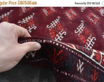 BIG SALE 13'9 x 8'1 ft wool Handmade Afghan Tribal Turkoman sara area wool carpet