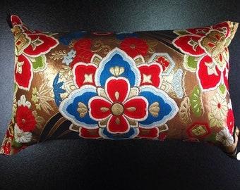 Cushion of Obi (Kimono) Japanese Silk  0000097
