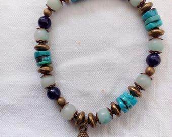 Bohemian bracelet with genuine stones