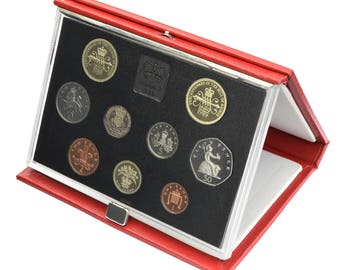 1989 Royal Mint Proof Set Red Leather Deluxe