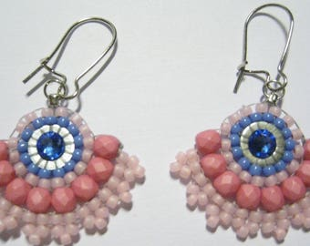 the colors of spring earrings