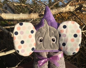 Baby Elephant Hooded Bath Towel