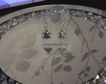 Skull and crossbones earrings