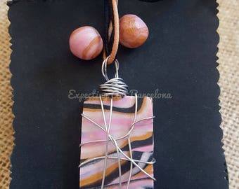 Earrings set and pink stick shades Necklace