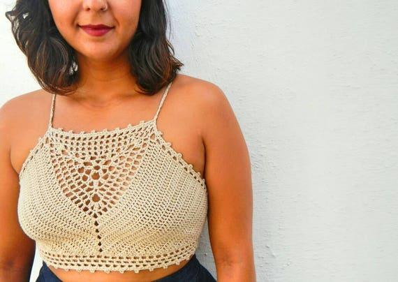 La Jardinera Crochet Crop Top