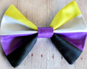 Nonbinary Bow // Non-Binary, Gender Identity, Pride Flag, Pride Accessories, LGBT, LGBTQIA, LGBT+