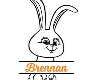 SnowB *Custom Name* Easter Bunny- Vinyl Decal - Multiple colors and sizes to choose from!!!