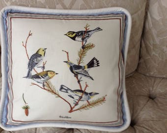 Warbler Birds with white piping