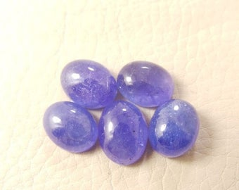 38% OFF Natural Tanzanite Oval Cab, Tanzanite Smooth Oval Shape Cabochon, 10-11 MM Size 5 Pieces, Loose Gemstone Beads AAA Grade Quality